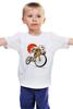 """Детская футболка классическая унисекс """"Star Wars"""" - star wars, bicycle, велосипед, bike, stormtrooper, звёздные войны, штурмовик"""