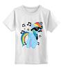 """Детская футболка классическая унисекс """"Rainbow Dash Meloman"""" - pony, rainbow dash, mlp, mustaches, notes"""