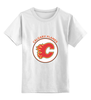 "Детская футболка классическая унисекс ""Calgary Flames"" - хоккей, nhl, нхл, калгари флеймз, calgary flames"