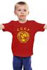 """Детская футболка классическая унисекс """"герб ссср"""" - ссср, ussr, серп и молот, герб ссср"""