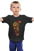 "Детская футболка ""Хохлома"" - цветы, узор, орнамент, хохлома"