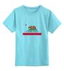 """Детская футболка классическая унисекс """"Калифорния флаг"""" - us, сша, west coast, california, cali"""