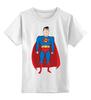 """Детская футболка классическая унисекс """"Супермен (Superman)"""" - супермен, superman, супергерой, dc"""