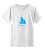 """Детская футболка классическая унисекс """"Nirvana-blue"""" - nirvana, монах, буддизм, lingam, yoga"""