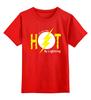 """Детская футболка классическая унисекс """"Горячая Молния"""" - молния, флэш, flash"""