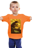 "Детская футболка ""Godzilla yellow"" - фильмы, динозавр, годзилла, godzilla, фатастика"