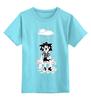 """Детская футболка классическая унисекс """"Лев под дождем"""" - leo, rain, sad lion, gloomy, мрачный лев"""