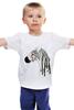 """Детская футболка """"зебра"""" - зебра, zebra, природа"""