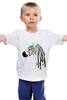 "Детская футболка классическая унисекс ""зебра"" - зебра, zebra, природа"