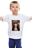 "Детская футболка классическая унисекс ""Captain Howdy"" - девушка, рога, вамп, фуражка"