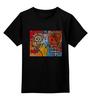 """Детская футболка классическая унисекс """"Basquiat"""" - черепа, граффити, корона, basquiat, баския"""