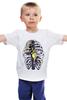 """Детская футболка """"Синицы в клетке"""" - birds, синица, bones, cage, rib cage, грудная клетка"""
