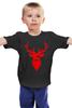 """Детская футболка классическая унисекс """"Ho Ho Ho..."""" - олень, хипстер, swag, усы, deer, mustache"""