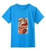 """Детская футболка классическая унисекс """"дед мороз в трубе"""" - новый год, new year, christmas"""