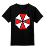 """Детская футболка классическая унисекс """"Umbrella (Resident Evil)"""" - обитель зла, resident evil, umbrella"""