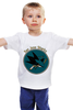 """Детская футболка классическая унисекс """"San Jose Sharks"""" - спорт, хоккей, nhl, нхл, сан хосе шаркс"""