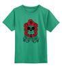 """Детская футболка классическая унисекс """"Born Free Taxed to Death"""" - череп, роза, винтаж, праздник мертвых"""