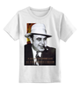 """Детская футболка классическая унисекс """"Аль Капоне"""" - череп, пистолет, авторские майки, ny, кости, шляпа, пуля, chicago, нью йорк, гангстер"""