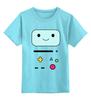 """Детская футболка классическая унисекс """"BMO  Adventure Time"""" - adventure time, время приключений, bmo, бимо, финном и джейком"""