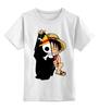 """Детская футболка классическая унисекс """"Манки Д. Луффи (Соломенная шляпа)"""" - one piece, большой куш, соломенная шляпа, луффи"""
