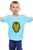 """Детская футболка классическая унисекс """"Железный человек"""" - мстители, железный человек, iron man, tony stark, старк"""