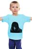 """Детская футболка классическая унисекс """"Ворон"""" - black, птица, crow, bird"""