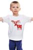 """Детская футболка классическая унисекс """"New Year is coming!"""" - happy new year, новый год, олень"""