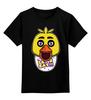"""Детская футболка классическая унисекс """"Let's eat!!! (Пять ночей у Фредди)"""" - пять ночей у фредди, five nights at freddy's, chica"""