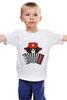"""Детская футболка """"Медведь с гармошкой"""" - арт, звезда, bear, медведь, россия, russia, аккордеон, ушанка, патоиотические футболки, медведт"""