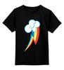 """Детская футболка классическая унисекс """"Rainbow Dash cutie mark"""" - pony, mlp, cutie mark, радуга дэш"""