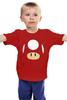 "Детская футболка классическая унисекс ""Гриб из Марио"" - гриб, mario, марио, mario bros"
