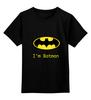 """Детская футболка классическая унисекс """"batman"""" - прикольные, batman, бэтман"""