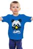 """Детская футболка классическая унисекс """"Панда в маске"""" - bear, медведь, панда, panda"""
