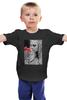 """Детская футболка классическая унисекс """"Девушка с маками"""" - девушка, цветы, фото, маки"""