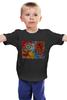 """Детская футболка """"Basquiat"""" - черепа, граффити, корона, basquiat, баския"""
