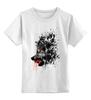 """Детская футболка классическая унисекс """"Кровавый оскал"""" - кровь, волк, оскал, wolf"""