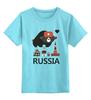 """Детская футболка классическая унисекс """"Россия (Russia)"""" - москва, moscow, русский, россия, russian"""