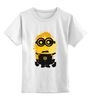 """Детская футболка классическая унисекс """"Миньон (Minion)"""" - миньон, гадкий я, minion"""