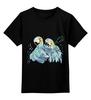 """Детская футболка классическая унисекс """"Влюбленные попугайчики"""" - иллюстрация, любовь, нежность, птицы"""