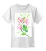 """Детская футболка классическая унисекс """"Цветы душистый горошек"""" - арт, цветы, весна, акварель, spring, горошек"""