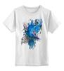"""Детская футболка классическая унисекс """"ART ZOO"""" - birds, blue, синие птицы"""