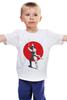 """Детская футболка классическая унисекс """"Red sun series"""" - самурай, япония, japan, red sun"""