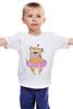 """Детская футболка классическая унисекс """"Мопс в юбке"""" - сердце, pug, гламур, собачки, мопс"""