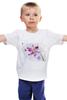"""Детская футболка """"Розовая орхидея"""" - акварель, орхидея, розовый цветы"""