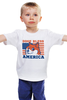 """Детская футболка классическая унисекс """"Doge Bless America"""" - мем, doge, собакен"""
