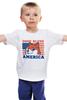 "Детская футболка ""Doge Bless America"" - мем, doge, собакен"