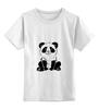 """Детская футболка классическая унисекс """"Панда)))"""" - прикольные"""