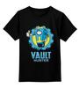 """Детская футболка классическая унисекс """"Fallout x Borderlands"""" - fallout, vault-tec, убежище, пограничье, выпадение радиоактивных осадков"""