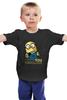 """Детская футболка классическая унисекс """"Миньон Дядя Сэм"""" - миньон, гадкий я, uncle sam, minion"""