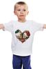 """Детская футболка """"Любить друг друга вечно"""" - сердце, цветы, черепа, акварель"""